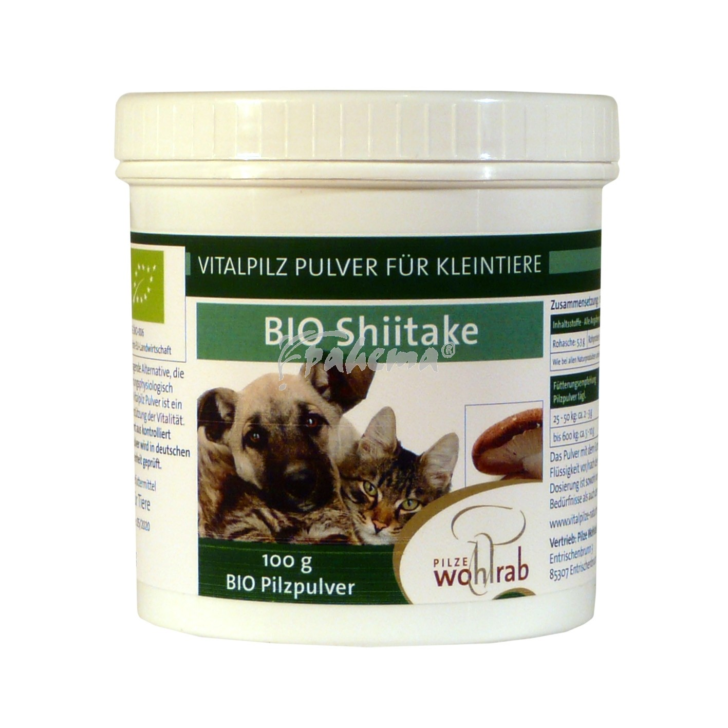 Produktbild: Shiitake Bio Pilzpulver